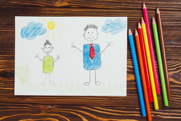 dia-dos-pais-composicao-com-criancas-desenho_23-2147811998